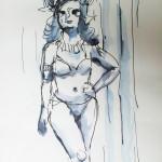 Zeichnungen von Anna Eitler, an Dr. Sketchy-Anlässen skizziert