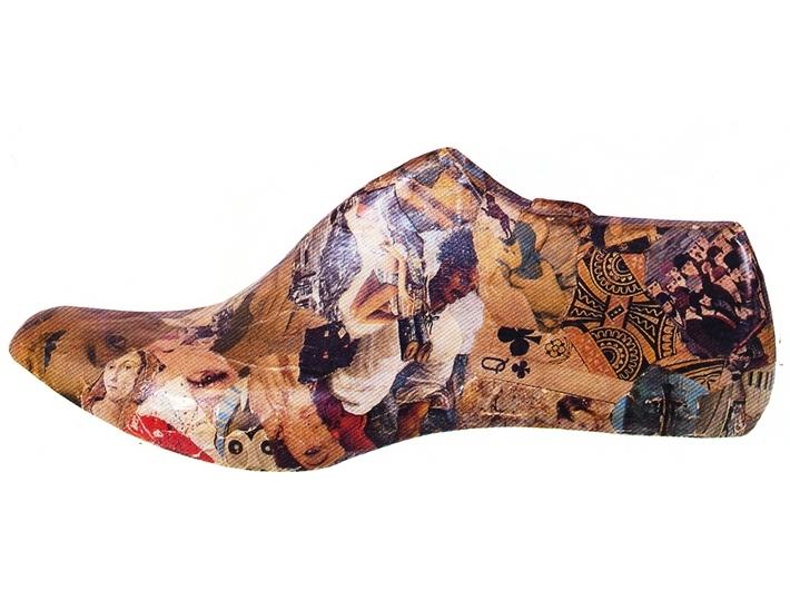 Jiří Kolář, Shoe, 1965, collage item, courtesy